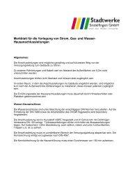 Hausanschlussleitungen - Stadtwerke Sindelfingen