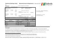 Informationen zur Gasabrechnung - Stadtwerke Sindelfingen