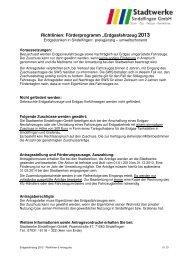 Erdgasfahrzeug 2013 - Richtlinien & Antrag - Stadtwerke Sindelfingen
