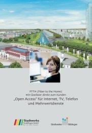 Fibre to the home - Stadtwerke Sindelfingen