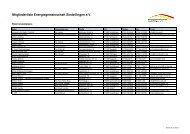 Mitgliederliste Energiegemeinschaft Sindelfingen e.V. - Stadtwerke ...