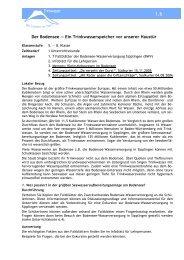 Der Bodensee - ein Trinkwasserspeicher - Stadtwerke Singen