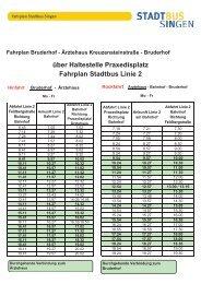 Fahrplan Stadtbus Linie 2 - Stadtwerke Singen
