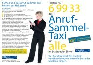 Flyer AST - Stadtwerke Singen