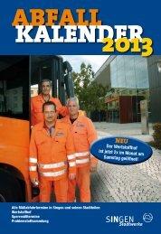Abfallkalender 2013 - Stadtwerke Singen