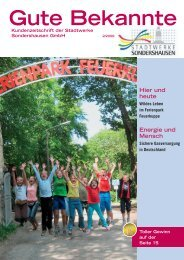 Ausgabe Mai 2009 - Stadtwerke Sondershausen GmbH