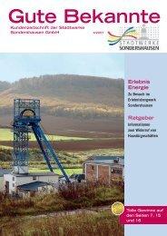 Ausgabe November 2007 - Stadtwerke Sondershausen GmbH