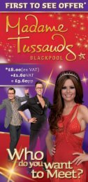 Madame Tussauds Blackpool - Days Out Leaflets