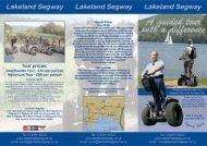 Lakeland Segway - Days Out Leaflets