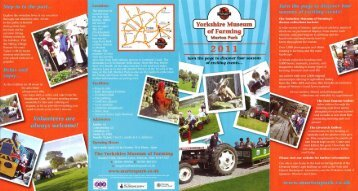 Yorkshire Museum of Farming - Days Out Leaflets