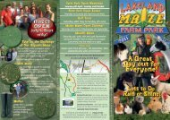 Lakeland Maze Farm Park - Days Out Leaflets