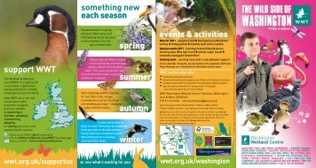 Washington Wetland Centre - Days Out Leaflets