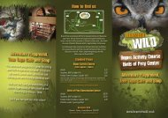 Beamish Wild - Days Out Leaflets