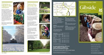 Gibside - Days Out Leaflets