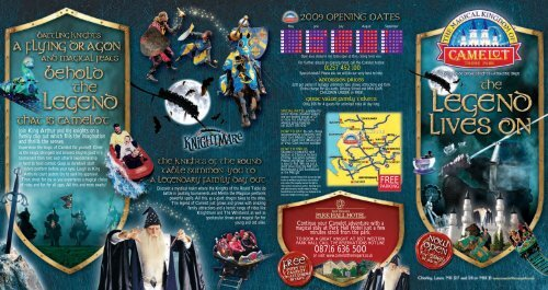 Camelot Theme Park - Days Out Leaflets