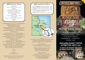 Mother Shipton's Cave & Petrifying Well - Days Out Leaflets