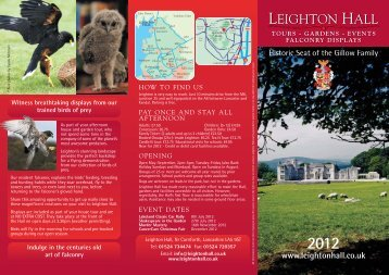 Leighton Hall - Days Out Leaflets