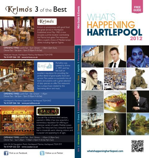 Whats Happening Hartlepool Days Out Leaflets