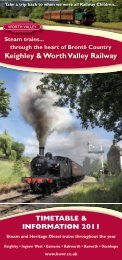 Keighley & Worth Valley Railway - Days Out Leaflets