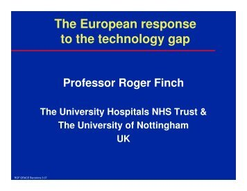 The European response to the technology gap, R. Finch ... - Grace