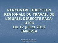 Slides dell'incontro del 17 luglio 2012 - Ministero del lavoro, salute e ...