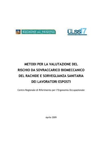 Metodi per la valutazione del rischio da sovraccarico biomeccanico ...