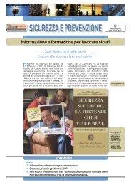 Informazione e formazione per lavorare sicuri - Ministero del Lavoro ...