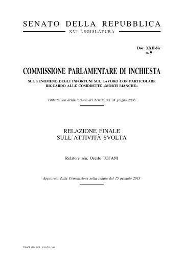 COMMISSIONE PARLAMENTARE DI INCHIESTA - Uil