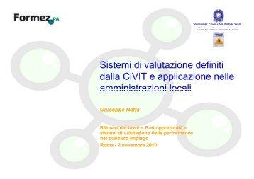 relazione dott. Giuseppe Raffa - Ministero del lavoro, salute e ...