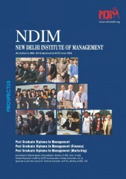 PGDM Prospectus - New Delhi Institute of Management