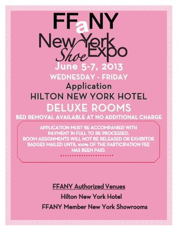 Download Exhibitor Application - FFaNY