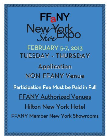 not exhibiting at a FFANY sponsored venue