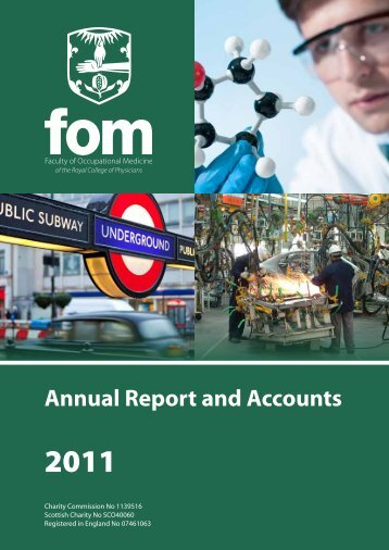 FOM Annual Report 2011 - Faculty of Occupational Medicine
