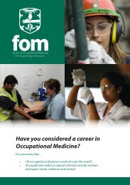 Have you considered a career in Occupational Medicine?