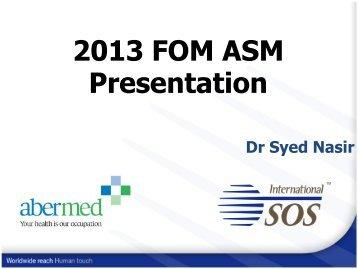 Dr Syed Nasir