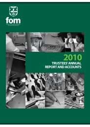 FOM Annual Report 2010 - Faculty of Occupational Medicine