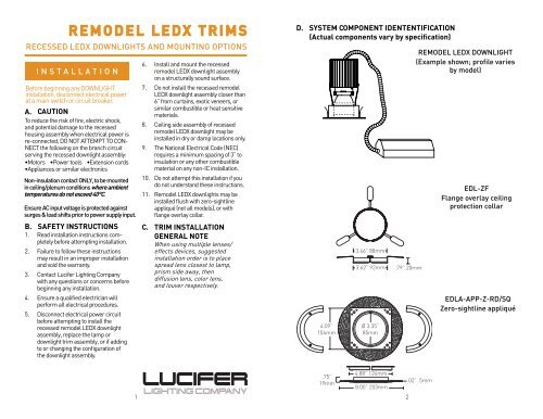 Z Series Ledx Remodel Guide Lucifer Lighting