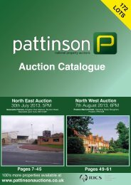 0800 859 5918 - Pattinson National Property Auctions