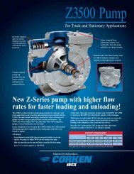 Z3500 Stationary and Truck Pump Sales Brochure - Corken