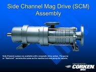 Side Channel Mag Drive (SCM) Assembly - Corken
