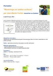 invitation_formation.. - GRAB, Groupe de Recherche en Agriculture ...