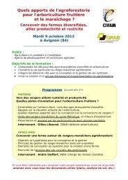Inscription obligatoire - GRAB, Groupe de Recherche en Agriculture ...