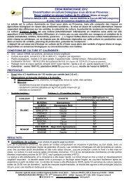 Dossier spécial 2 - GRAB, Groupe de Recherche en Agriculture ...