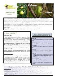 septembre 2009 - GRAB, Groupe de Recherche en Agriculture ...