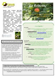 La Reinette - GRAB, Groupe de Recherche en Agriculture Biologique
