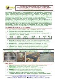 Dossier spécial 1 - GRAB, Groupe de Recherche en Agriculture ...
