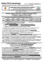 Décembre 2011 - GRAB, Groupe de Recherche en Agriculture ...
