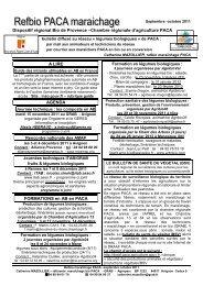REFBIO sept oct 2011 - GRAB, Groupe de Recherche en Agriculture ...