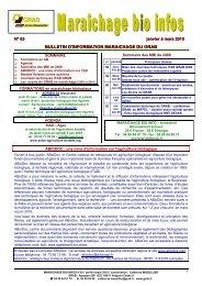 MBI 63 janvier février mars 2010 - GRAB, Groupe de Recherche en ...