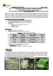 L08-LR-07-variétés.. - GRAB, Groupe de Recherche en Agriculture ...